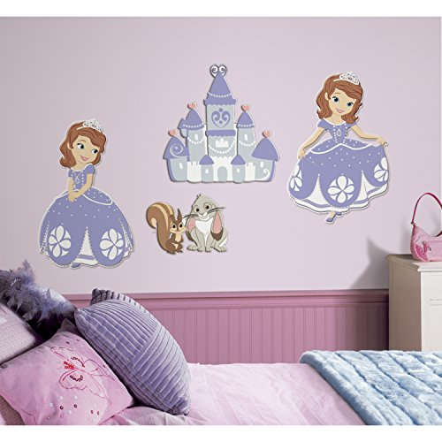 RoomMates RMK2516FLT Sofia The First Foam Characters - 1