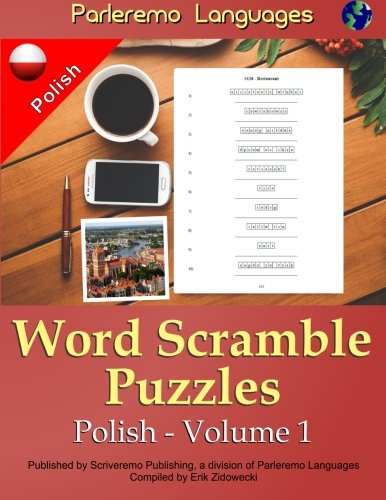 Parleremo Languages Word Scramble Puzzles Polish - Volume 1