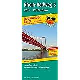 Radwanderkarte Rhein-Radweg 5 Köln-Rotterdam - Leporello-Falzung: Mit Ausflugszielen, Einkehr- & Freizeittipps, wetterfest, reissfest, abwischbar, GPS-genau. 1:50000
