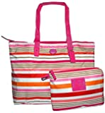 Coach Getaway Signature Nylon Packable Weekender 2 Piece Set Bag 77321 Pink Multi