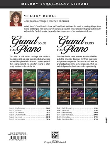 Grand Trios for Piano, Book 4: 4 Early Intermediate Pieces for One Piano, Six Hands