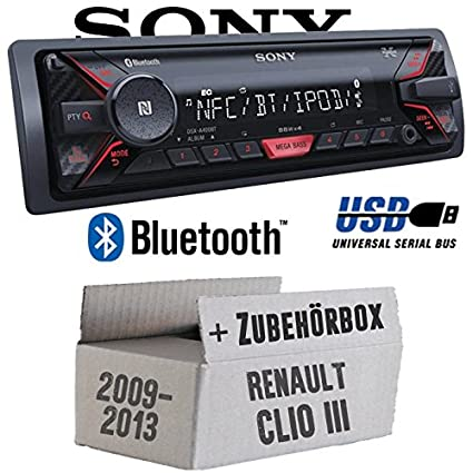 Renault Clio 3 FL - Sony DSX-A400BT - Bluetooth MP3/USB Autoradio - Einbauset