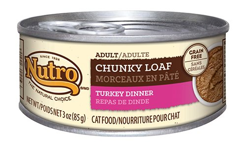 Nutro Adult Cat Food Chunky Loaf Turkey Dinner Recipe