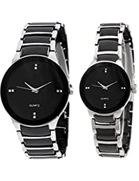 AKAG Round Analogue Couple Watch Couple Watch - A-IK-SILR-CPL