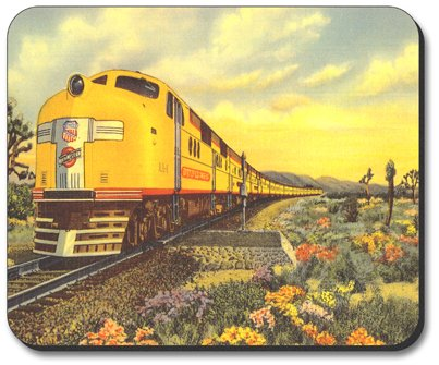 Decorative Mouse Pad Union Pacific Train