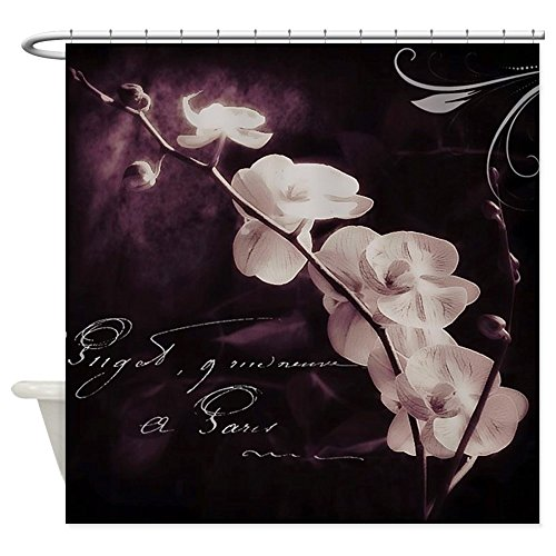 CafePress - Purple orchid Shower Curtain - Decorative Fabric Shower Curtain (Cafe Press Orchid Shower Curtain compare prices)