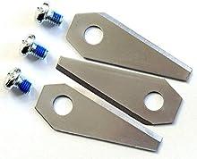 Titan. 3cuchillo extraduras de repuesto para Bosch INDEGO revestida de titanio 1Set = 3cuchillas Afilado De 2caras-Reversible