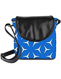 Snoogg Blue Pattern Womens Sling Bag Small Size Tote Bag