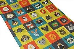 ANIMAL CARTOON FACES PRINT SCARF- RUFFNEK® Multifunctional Neckwarmer Ski mask - Men, Women & Children from RUFFNEK® OUTDOORS