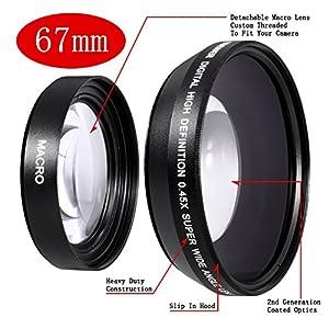 Neewer 67Mm Black Wide Angle Macro Conversion Lens 0.43X 67 Mm