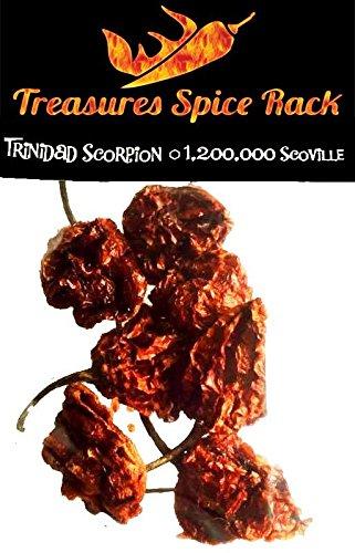 Trinidad Scorpion Pepper Moruga Dried Pods (Dehydrated Carolina Reaper compare prices)