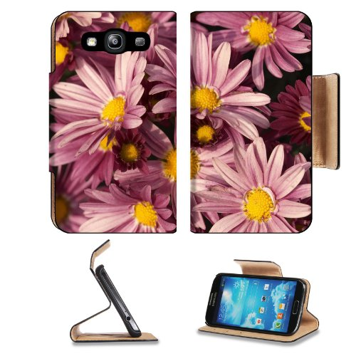 Bunches Purple Daisies Daisy Flowers Petals Yellow Center Nature Samsung Galaxy S3 I9300 Flip Cover Case With Card Holder Customized Made To Order Support Ready Premium Deluxe Pu Leather 5 Inch (132Mm) X 2 11/16 Inch (68Mm) X 9/16 Inch (14Mm) Liil S Iii S