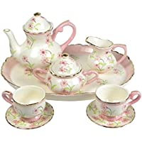 Childrens Porcelain Miniature Tea Set For Two Pretty In Pink Girls
