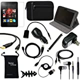 DigitalsOnDemand ® 14-Item Accessory Bundle for Amazon Kindle Fire HD 8.9 1st Gen Previous Model - Leather Case, Sleeve Cover, Screen Protector, HDMI Cable, USB Cables + Chargers Does not fit New model Kindle Fire HDX 8.9