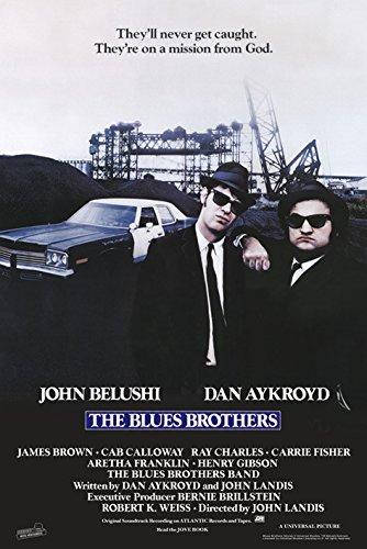 """quadri & cornici HB - """" Blues Brothers"""" quadro,stampa su legno, poster su legno, bordo nero"""