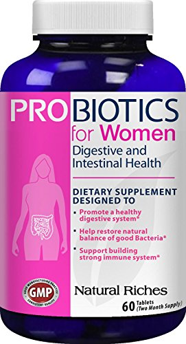 Probiotics-for-Women-supplement-from-Natural-Riches-60-Tablets-Immune-System-Booster-Colon-Health-Digestive-Support-Replenishes-Flora-after-Antibiotic-Use