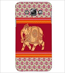 PrintDhaba Elephant D-5799 Back Case Cover for SAMSUNG GALAXY A7 (Multi-Coloured)
