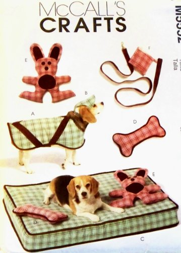 OOP McCall's Pattern M5552. Dog Coat; Hat; Bed; Toys; Purse; & Leash for Small (16