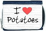 I Love Heart Potatoes Denim Wallet