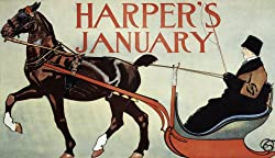 Harper's Magazine Cover by Edward Penfield, January 1899 - 16x20-inch - Fine-Art-Quality Photographic Print of an Image from the Library of Congress Collection