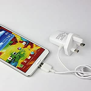 UK Plug 5V 1.2A Output Travel Charger Adapter for Samsung Galaxy Note 3 N9000 - White (AC 100-240V)