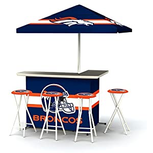 Best of Times NFL Patio Bar and Tailgating Center Deluxe Package- Denver Broncos by Best of Times, LLC
