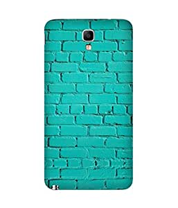 Turquoise Bricks Printed Back Cover Case For Samsung Galaxy Note 3 Neo