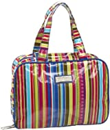 Hadaki Makeup Case Pod/travel Bag Cobalt Stripes