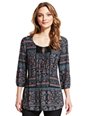 Indigo Collection Ethnic Print Tunic