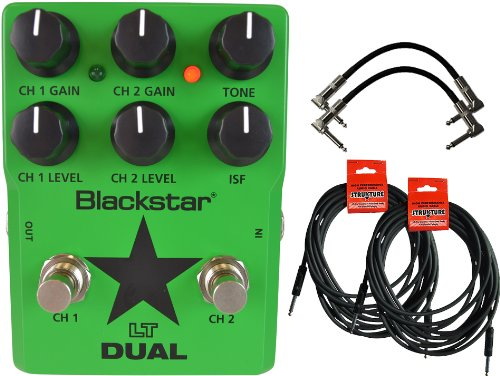 Blackstar Ltds2 Lt Dual 2-Channel Distortion Guitar Effects Pedal W/ 4 Cables