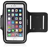 AUKEY Brassard Sport iPhone 6 Etui Brassard pour le jogging / Gym / course avec sangle réglable compatible avec iPhone, Samsung, HTC, LG et les autres smartphones inférieur à 5 pouces (Noir)