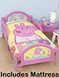 Peppa Pig Seaside Toddler Bed + Deluxe Foam Mattress