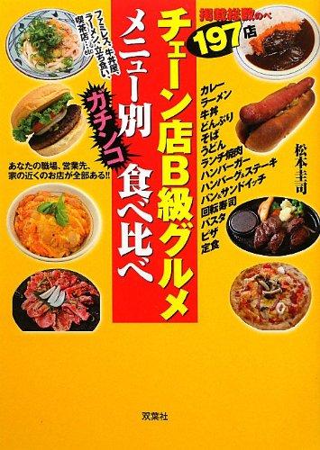 チェーン店B級グルメメニュー別ガチンコ食べ比べ