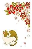 東洋ケース 蒔絵シール MIYABI 猫 桜 MIYABI-02