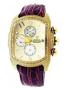 New Aqua Master 20 Diamonds Yellow Gold Tone Bubble Loop Watch