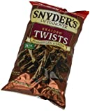 Snyders of Hanover Pretzels Twists, Pumpernickel and Onion Braided, 12 Ounce (Pack of 12)