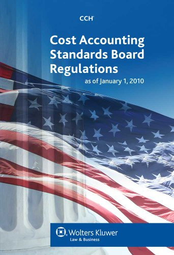 Cost Accounting Standards Board Regulations as of 01/2010 (Security As A Service compare prices)