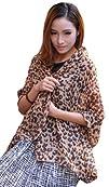 New Brown Leopard Pattern Print Chiffon Women Scarf Neckerchief