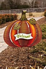 Pumpkin Garden StakeMetal20x2x29 InchesAssorted 3