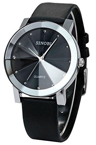 Findtime ファション 腕時計 メンズ レザーバンド アナログ ファッション フォーマル