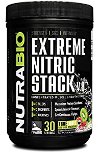 NutraBio Extreme Nitric Stack V.8 (Kiwi Strawberry)-527.1g-30 Servings