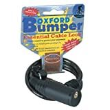 OXFORD MOTORBIKE BUMPER CABLE LOCK SMOKE 600MM x 6MM CHEX