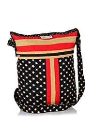 Home Heart Women's Hipster American Flag Sling Bag