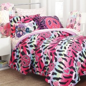Amazon.com - 5pc Girl Pink Yellow Purple Black Heart Love ...
