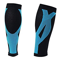 SUPER-HEROS Kinesio Calf Compression Sleeve - Enjoy Extra Support Enhanced Performance Faster Recovery. Get Professional Seamless Sport Socks FREE