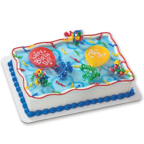 Birthday Party Balloons DecoSet Cake Decoration - 1