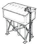 Dapol Model Railway Water Tower Plastic Kit - OO Scale 1/76
