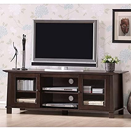 Baxton Studio Havana Wood Modern Plasma TV Stand, Brown