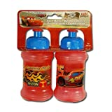 Disney Cars 9oz Pull Up Top Sports Bottle 2-Piece Set