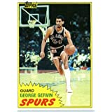 1981 82 Topps Basketball Card # 37 George Gervin San Antonio Spurs In A Protective... by SCORE
